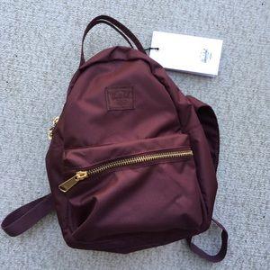 Herschel NWT Burgundy 'Nova' Mini Backpack